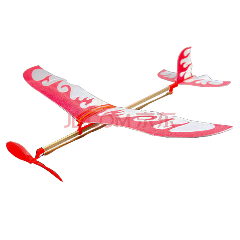 橡皮筋动力双翼滑翔飞机雷鸟橡皮筋飞机航模