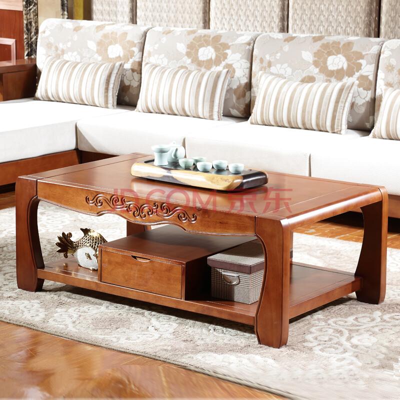 品尚美家 实木沙发 中式实木家具客厅组合沙发 配套茶几