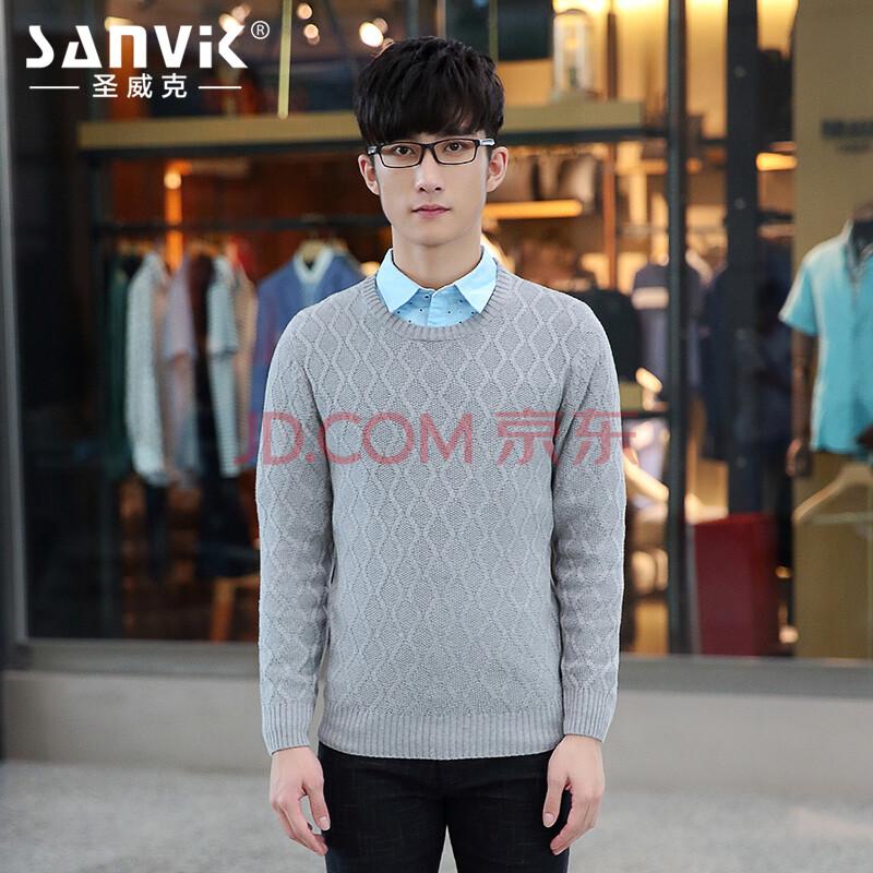 韩版男士针织衫图片
