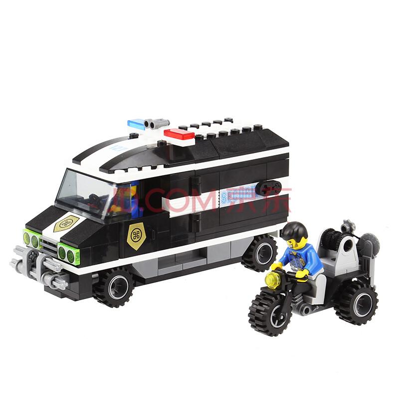 启蒙(englighten)拼插乐高种植拼装模型益智玩具积木种籽警察系列韩国进口警车菜娃娃适合东北兼容图片