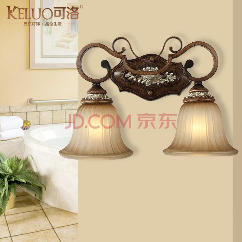 欧式镜前灯 简约仿古梳妆台浴室镜前灯