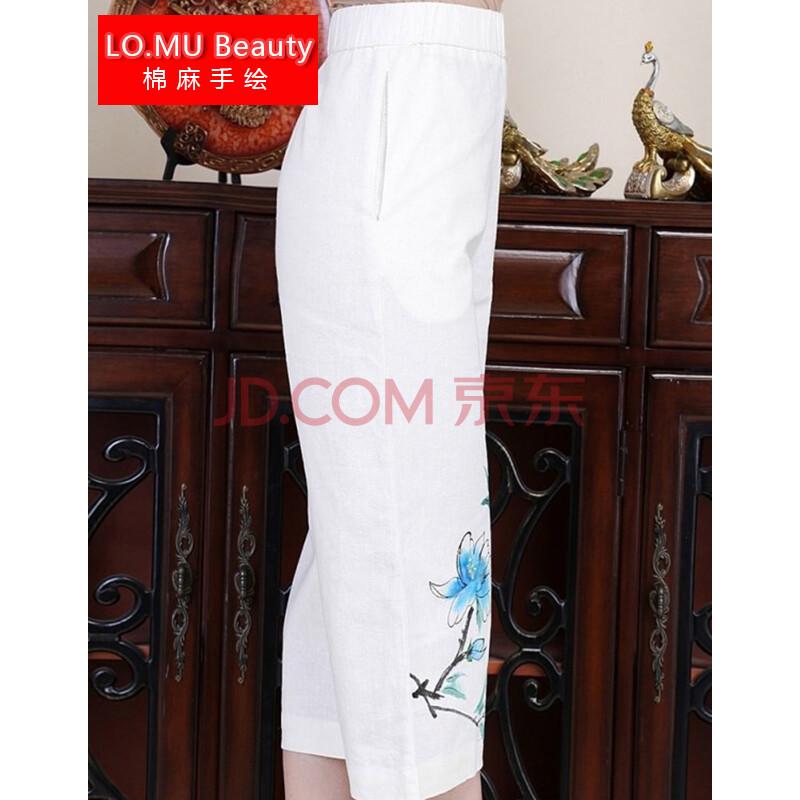 2014秋季女装中国风手绘广玉兰棉麻民族