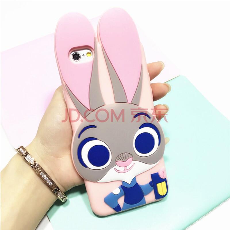 yumqua 卡通疯狂动物城兔子朱迪手机保护软壳硅胶挂绳