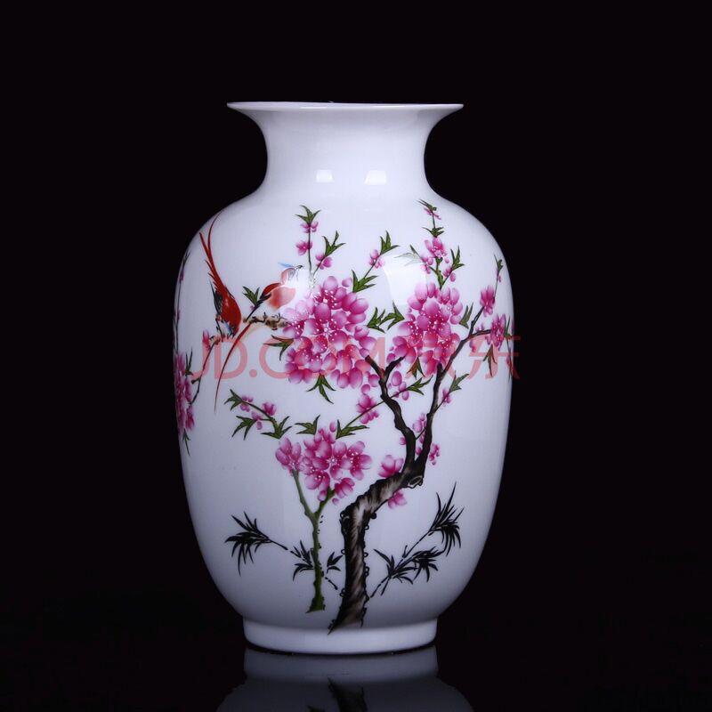 爵仕英伦 景德镇陶瓷器花瓶 插花器家居工艺品摆件 餐厅客厅装饰摆设