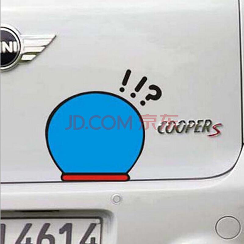 猫新手上路油箱后视镜门把手卡通划痕汽车贴纸 功能小件 叹号问号贴