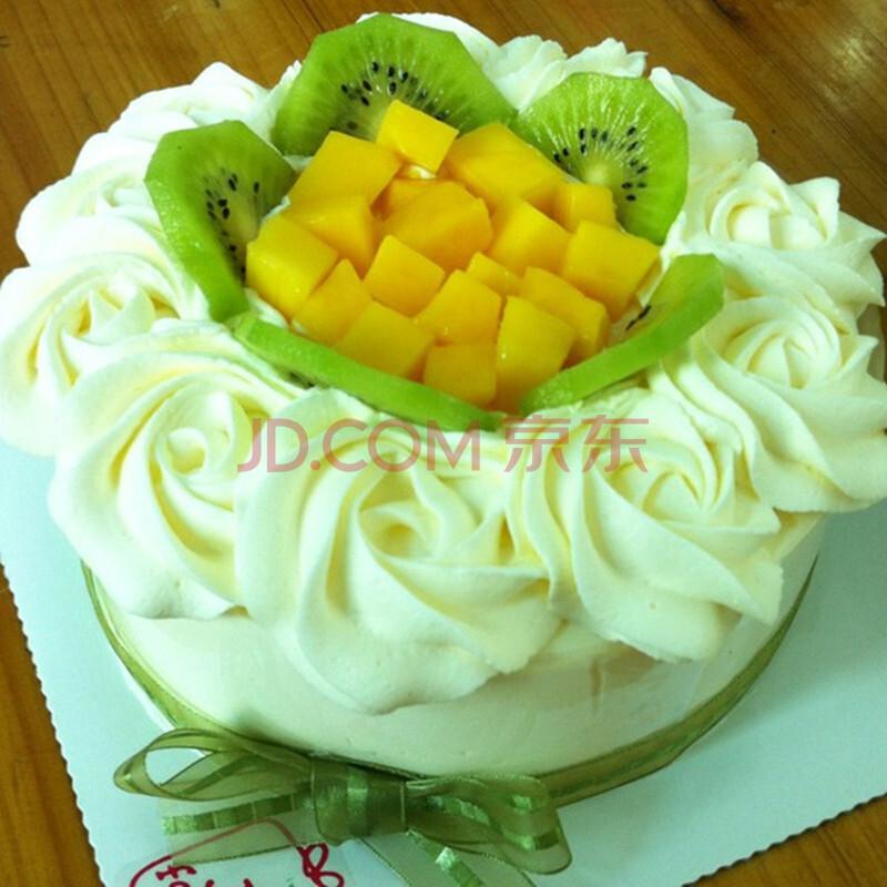 安月禾鲜花店水果生日蛋糕配送 蛋糕速递 巧克力奶油双层蛋糕预定鲜花