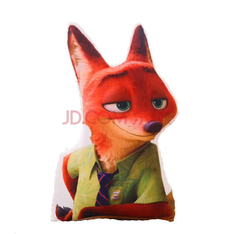 韩流秀秀 疯狂动物城创意毛绒玩具抱枕公仔兔子朱迪狐狸尼克靠垫电影图片