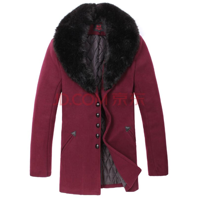 枣红色长款大衣搭配