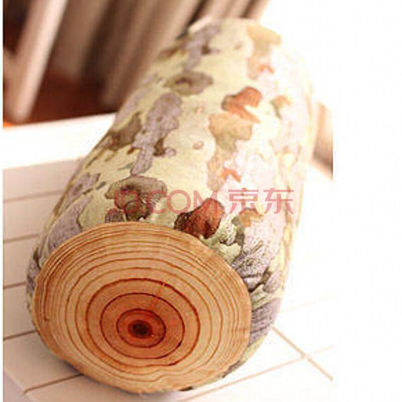 酷琪瑞个性木头桩毛绒玩具 砧板大树抱枕年轮坐垫 创意沙发靠枕生日