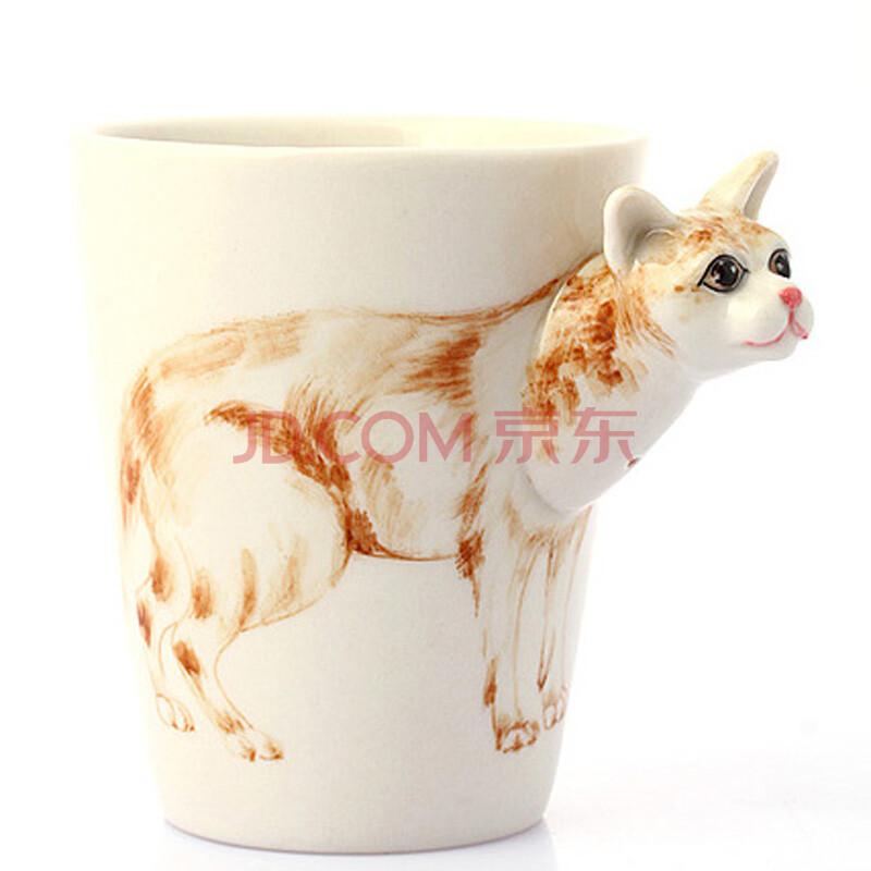 3d立体手绘杯 创意马克杯子 个性咖啡杯奶茶杯大容量陶瓷动物杯 缅甸