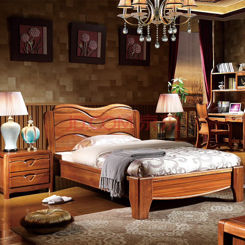 2米儿童床金丝檀木全实木家具卧室单人床t0809 金丝檀木 新品预售定金