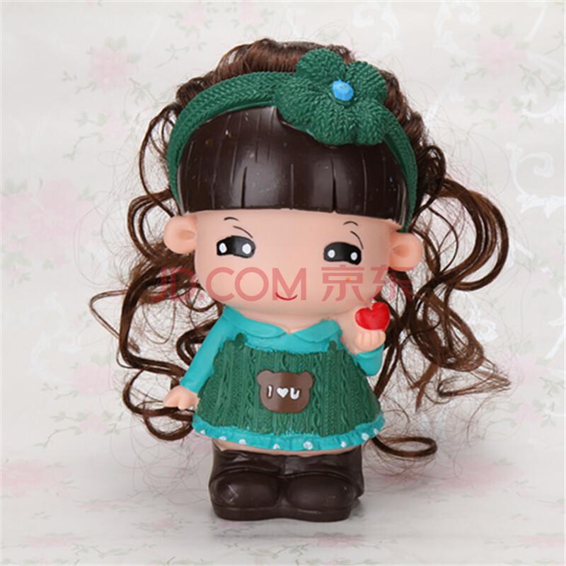 乐陶陶 摔不烂搪胶娃娃储蓄罐 长发可爱公仔玩具 创意白胚绘画彩绘di