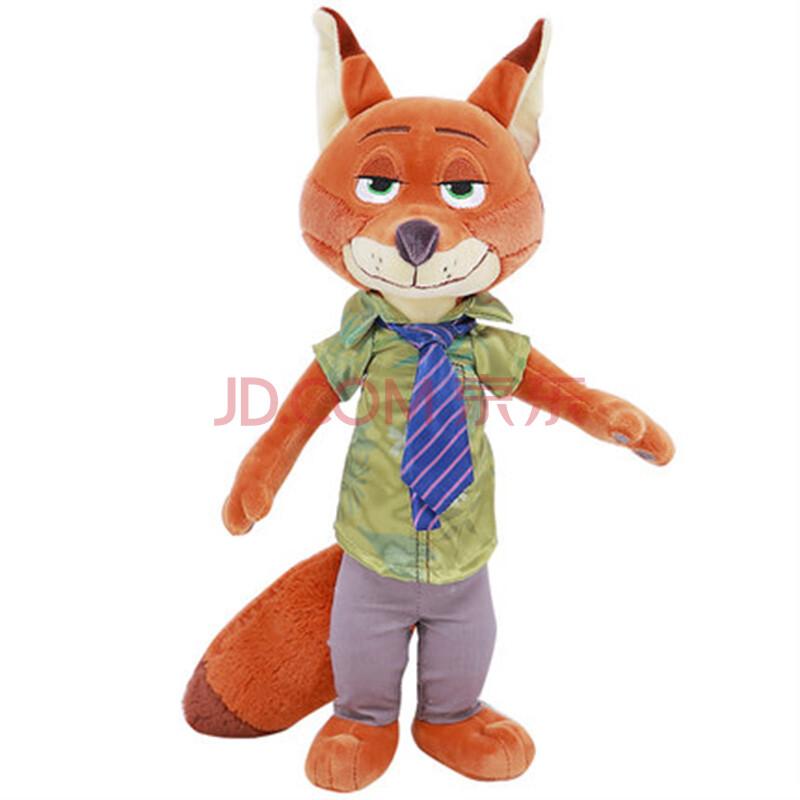 狗狗兔 疯狂动物城公仔 狐狸尼克公仔疯狂的兔子朱迪毛绒玩具玩偶礼物图片