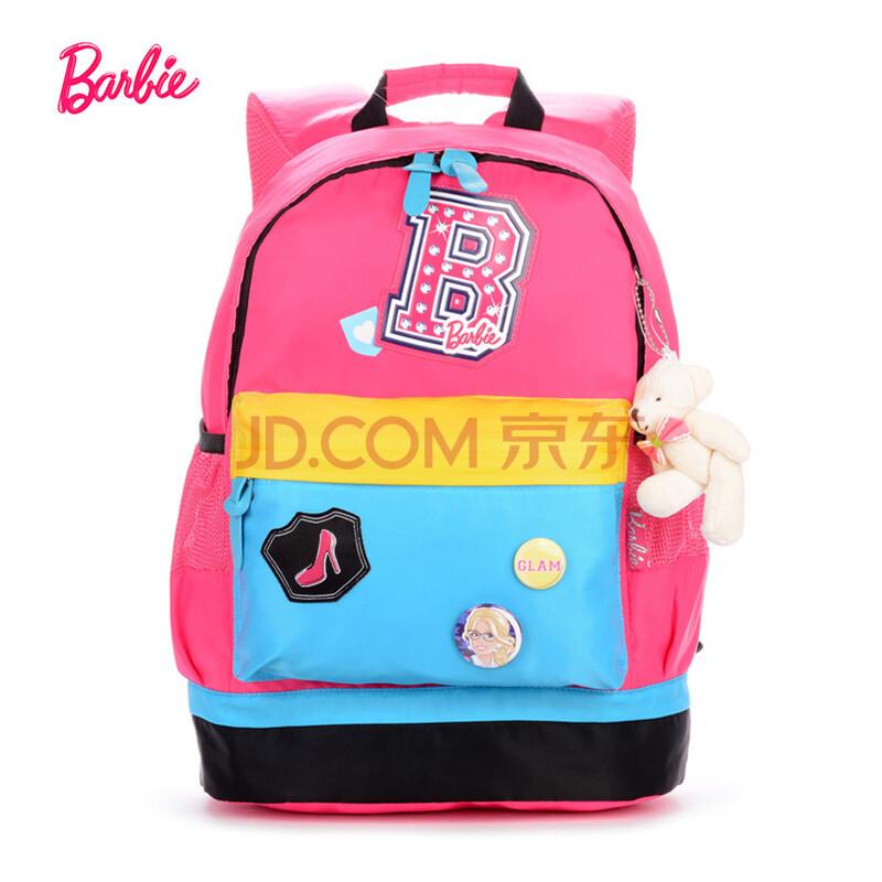 芭比barbie 儿童书包 小学生双肩背包 休闲书包 卡通书包 1-3年级 桃图片