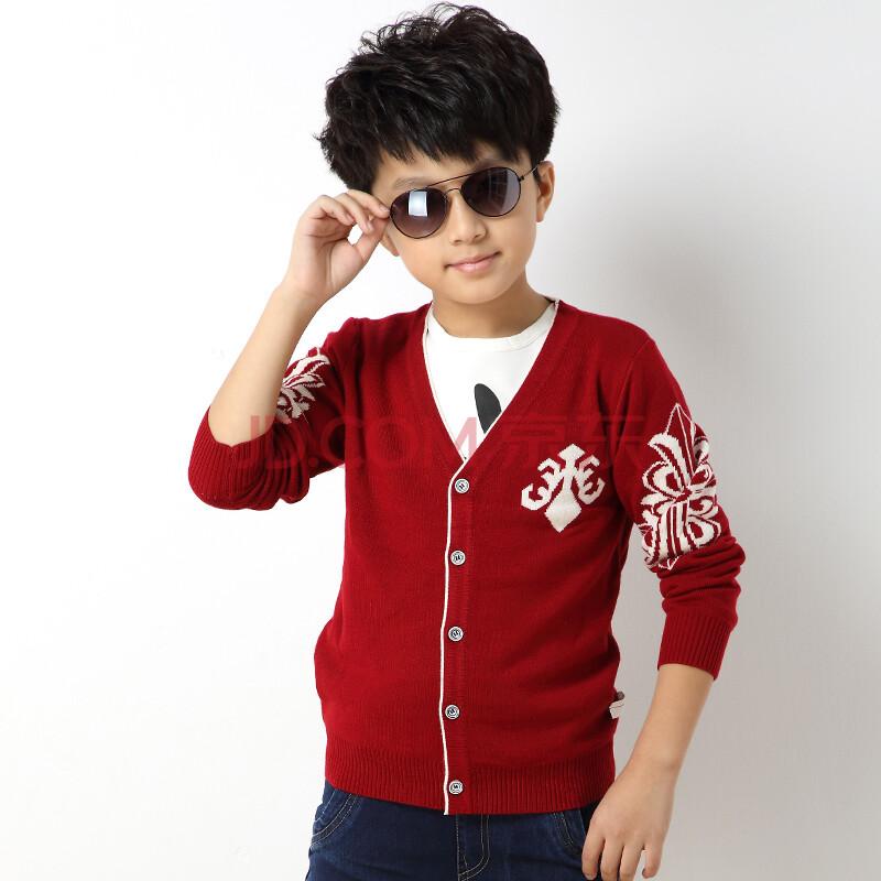 男童开衫毛衣儿童上衣男孩衣服宝宝韩版针织衫b-1款