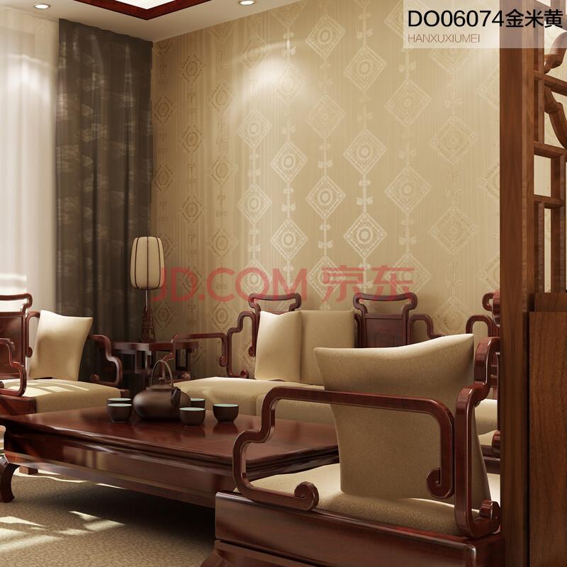 德尔菲诺墙纸 现代中式卧室客厅电视背景墙无纺布壁纸图片
