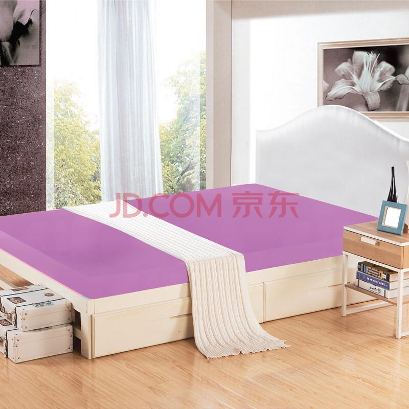 菡玉 床垫床褥子 榻榻米床垫子 高密度海绵床垫 薄 单人双人垫被 紫
