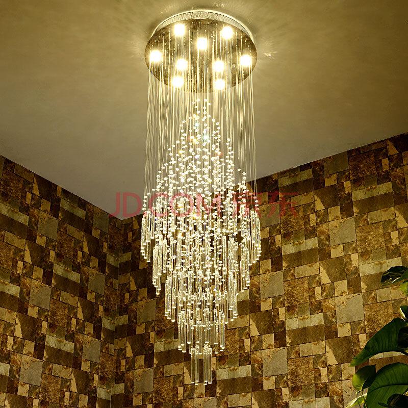 思洛迪水晶吊灯复式楼梯吊灯长吊灯别墅楼梯间吊灯大客厅水晶长吊灯