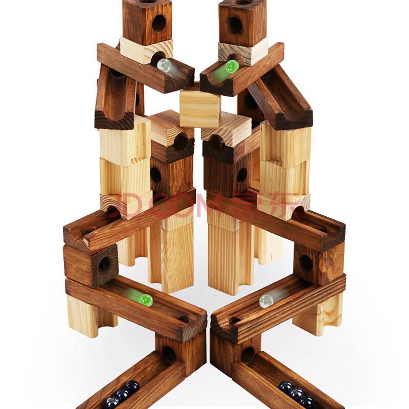 汇乐宝儿onshine轨道积木管道拼装游戏滚珠积木积木木制益智创造力图片