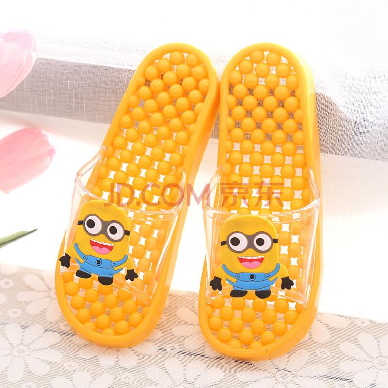 倍喜多韩国男女可爱卡通浴室漏水洗澡拖鞋夏季居家防滑浴室按摩拖鞋