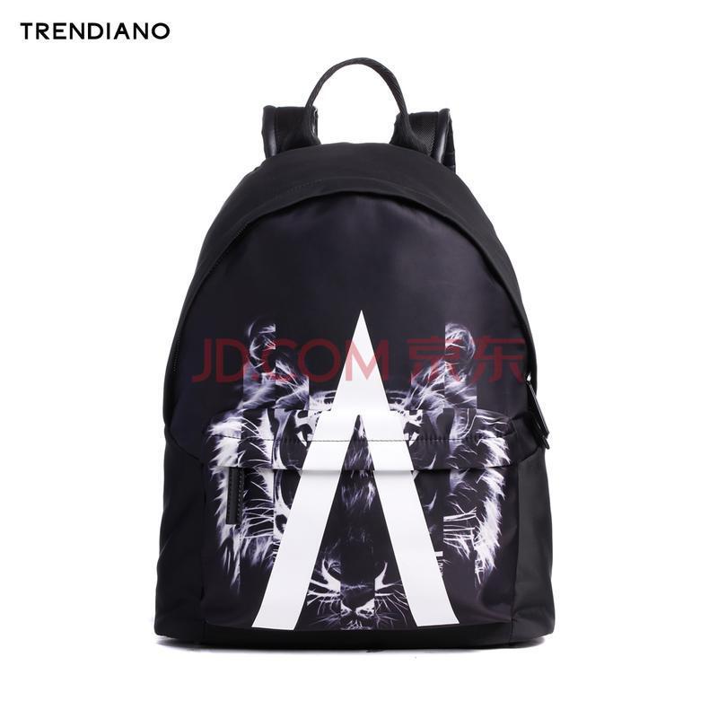 trendiano新2016男装夏装虎头字母印花双肩包背包男包图片