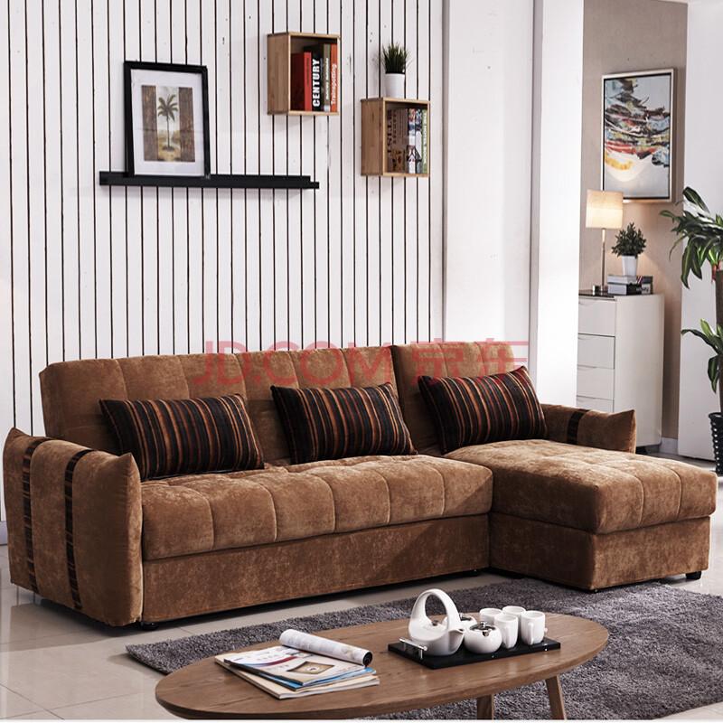 奥菲利 沙发床 多功能折叠床 拆洗布艺储物沙发 1.8米