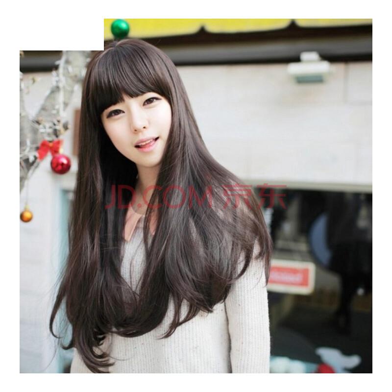 韩版假发 长发女生长卷 发型蓬松仿真 时尚可爱长直微