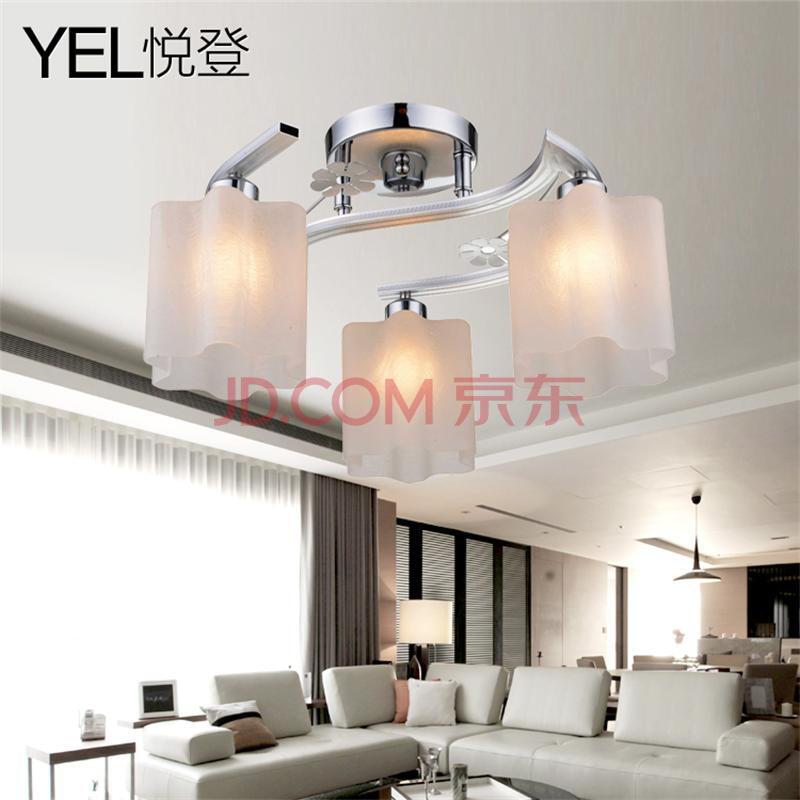 悦登家居家装建材灯饰照明吸顶灯现代简约宜家吸顶灯新清卧室吸顶灯