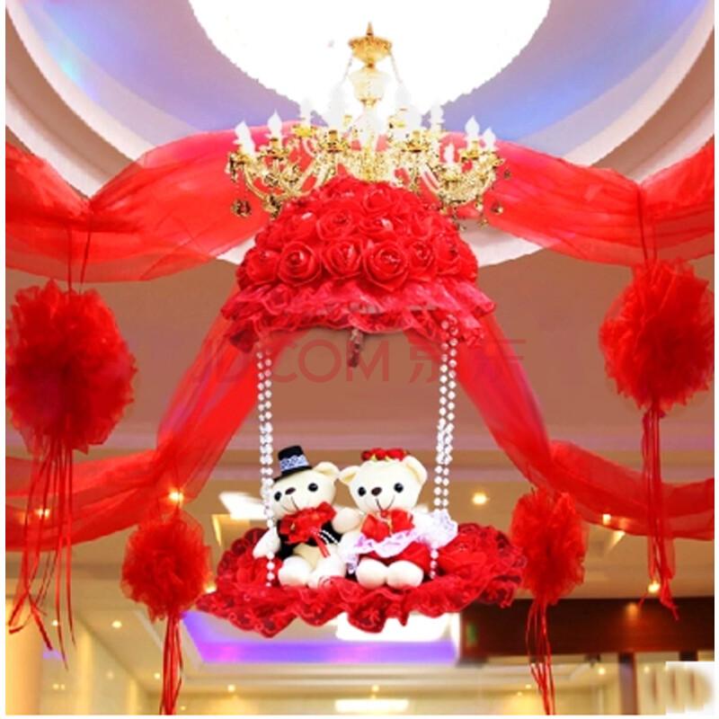 结婚礼物婚房布置装饰用品婚庆拉花创意新房纱幔挂饰
