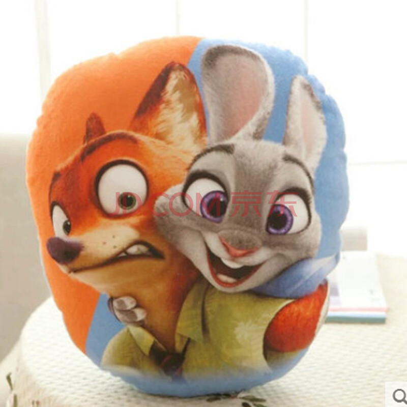 抱枕疯狂动物城公仔狐狸尼克朱迪兔子毛绒玩具女生玩偶周边抱枕手办