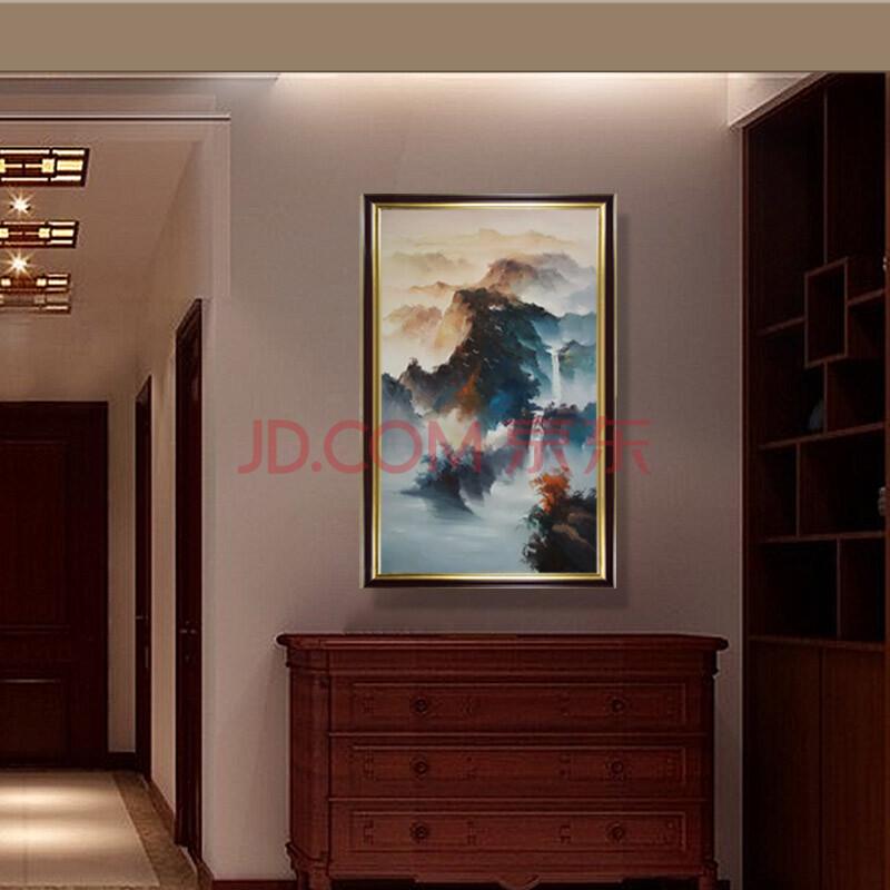 日康 泰山日出画 纯手绘现代中式走廊壁画挂画 玄关油画装饰画 3849
