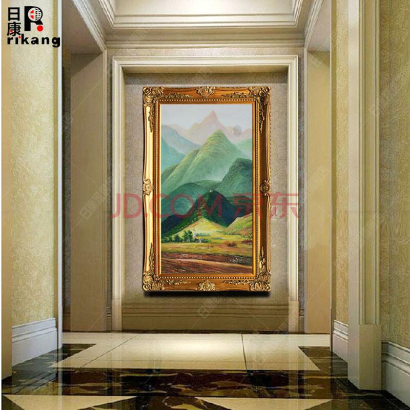 欧式风景名画 走廊过道玄关山水挂画 酒店别墅装饰画 有框豪华壁画 配图片