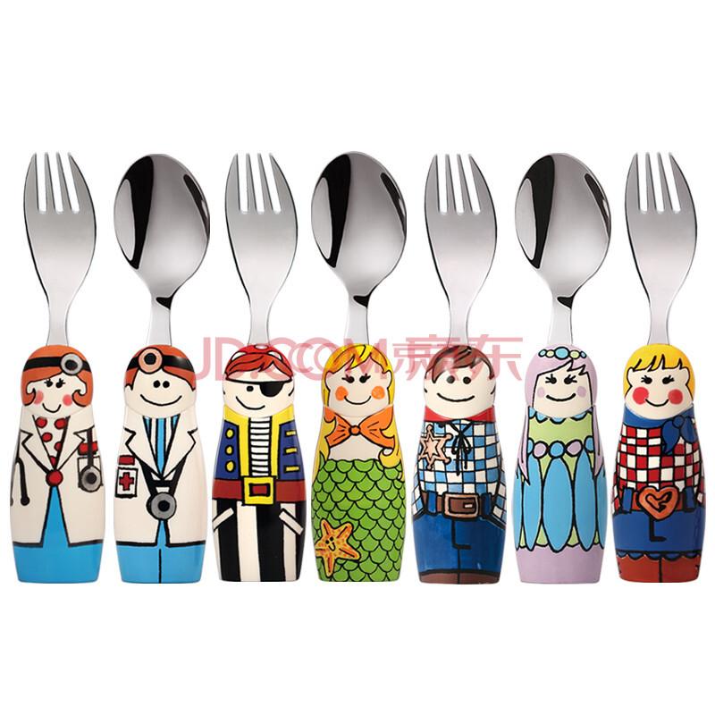eat 4 fun可爱卡通图案刀叉不锈钢防摔儿童餐具套装正品c 05boydoctor