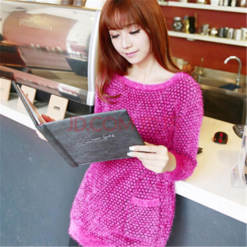 2014学院甜美可爱少女系列韩系长绒秋款毛衣毛衫bh360