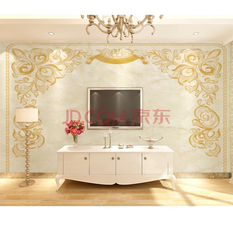 塞拉维奢华欧式简约花纹墙纸壁画个性定制客厅电视墙