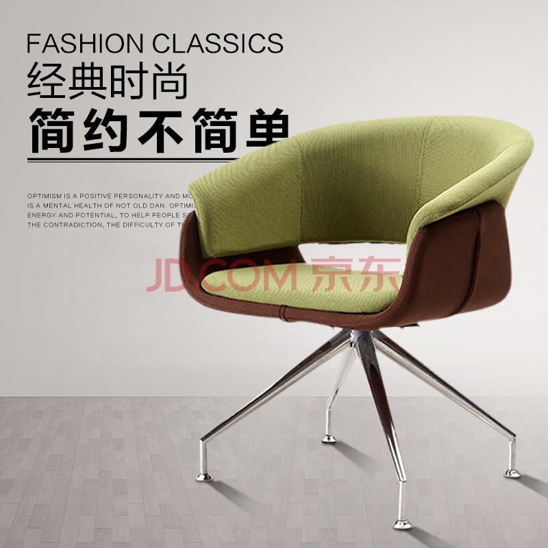 赢寸间北欧时尚洽谈休闲椅 创意布艺懒人椅沙发转椅 设计师沙发椅书