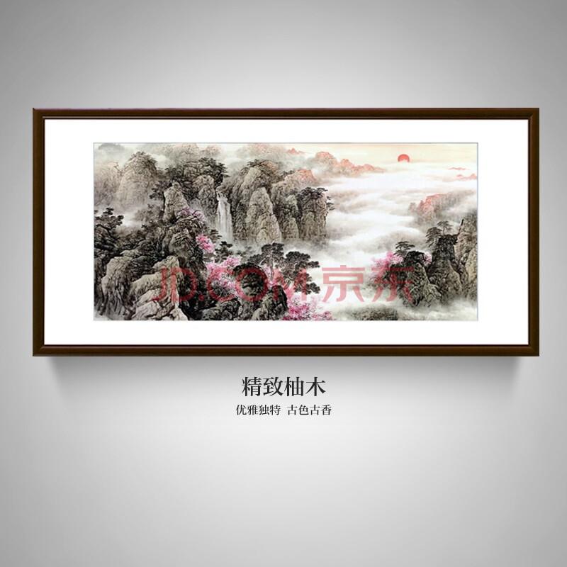 璇美现代中式客厅手绘名画餐厅书房酒店老总办公室挂