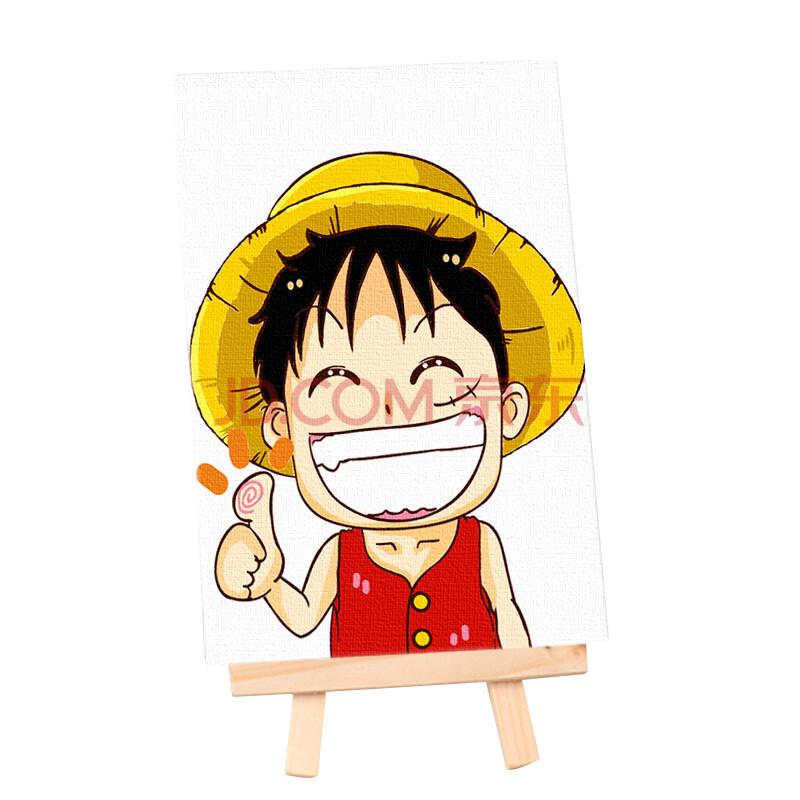 diy数字油画风景客厅卧室花卉抽象情侣手绘填色装饰画儿童画板 小路飞