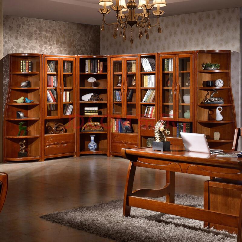 艾美悦书架层架 实木书柜 六层储物柜子 自由组合书柜