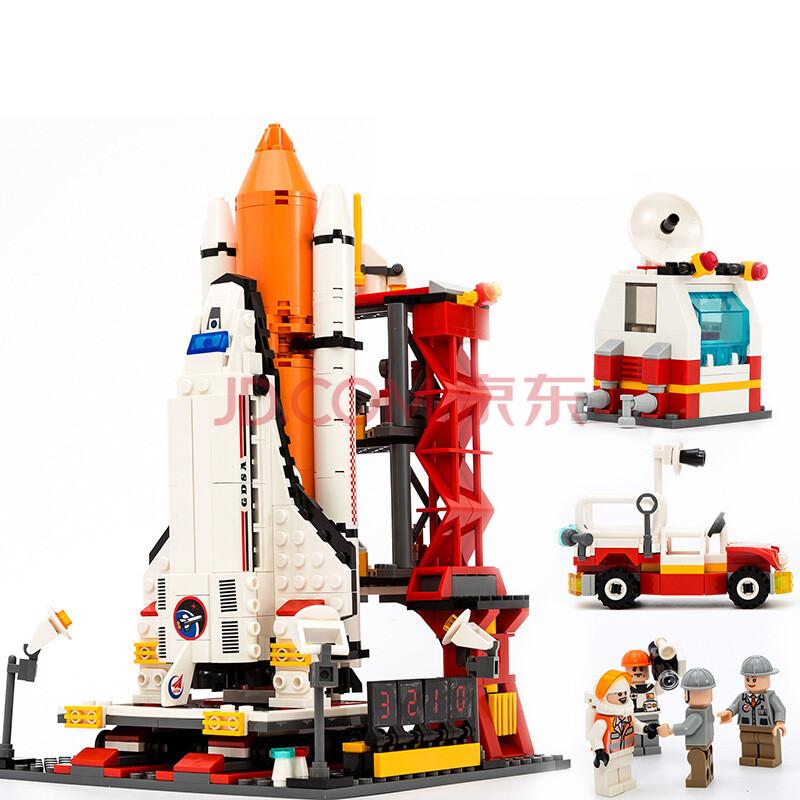 儿童益智拼插玩具宇宙神州飞船乐高式积木 8815航天飞机发射中心679片