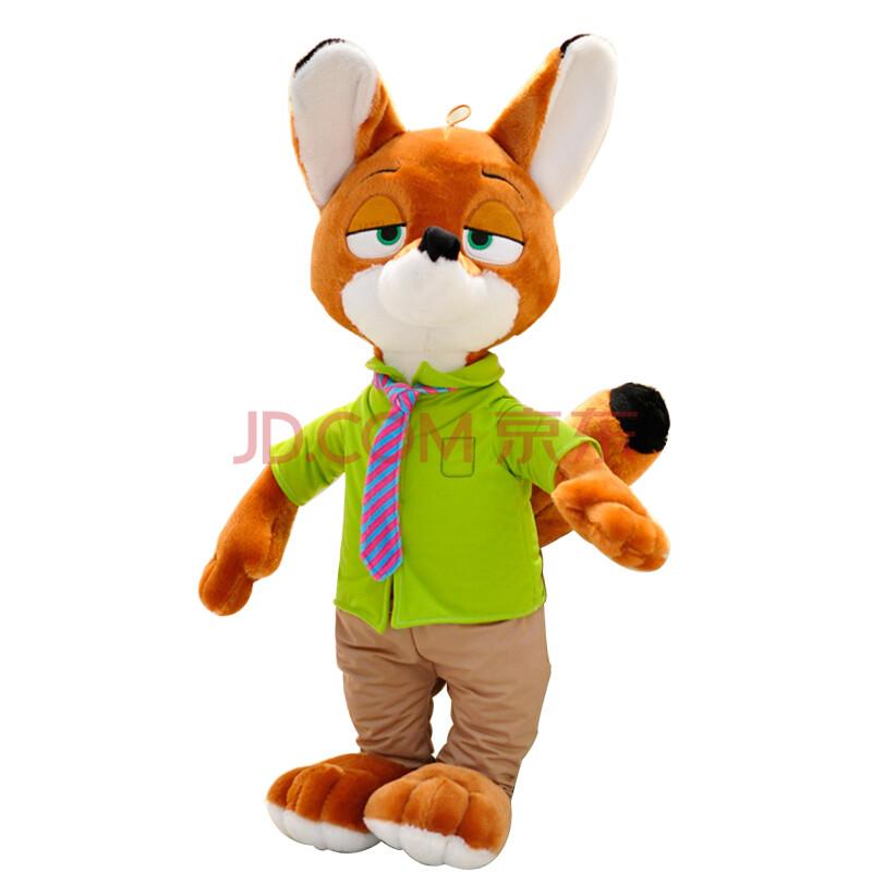 疯狂动物城周边朱迪兔子尼克狐狸公仔毛绒玩具抱枕 尼克狐狸 60cm图片