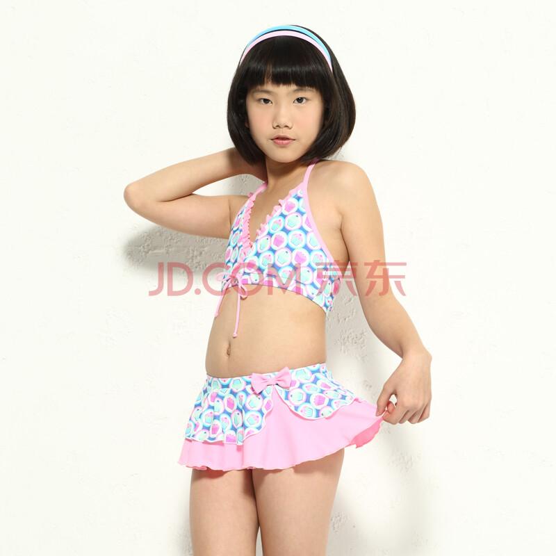 儿童分体裙式游泳装