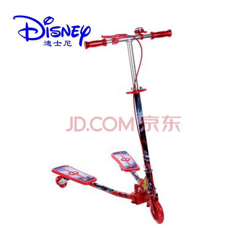 正品迪士尼儿童滑板车三轮闪光蛙式车芭比公主扭扭车