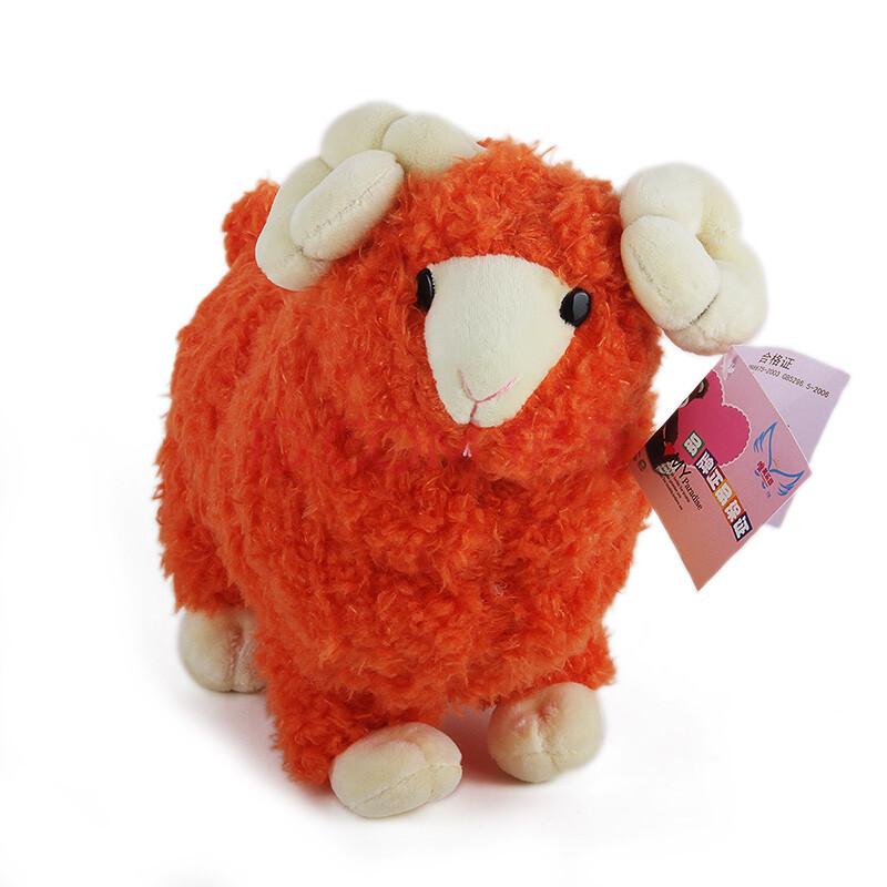 女生情人节礼品 可爱白色小绵羊嘟嘟小羊公仔毛绒玩具娃娃抱枕 儿童幼