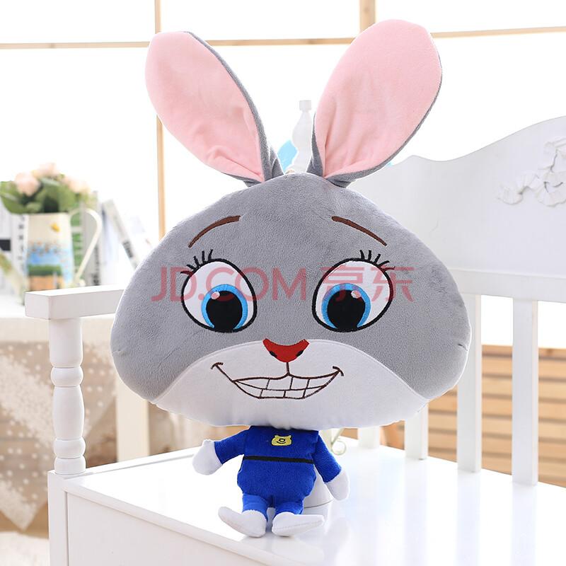 疯狂动物城兔子狐狸抱枕被子多功能三合一实用可爱毛绒玩具公仔毯子二