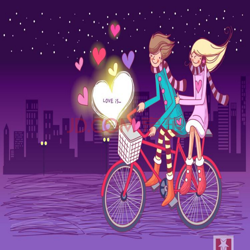 现代装饰画 卧室卡通无框画儿童房温馨挂画浪漫爱情