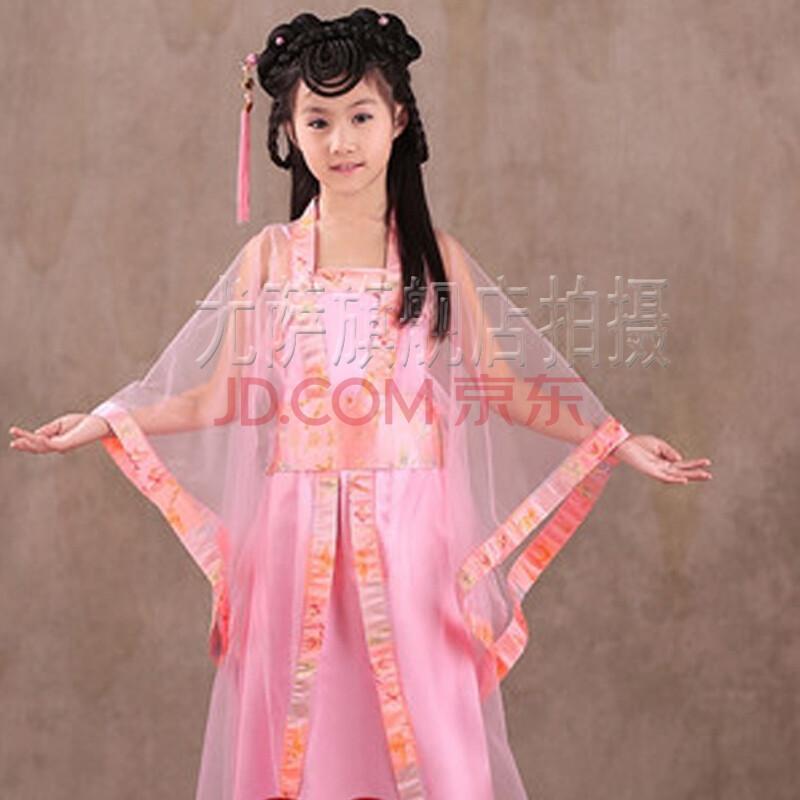 儿童古代古筝汉服影楼服装唐装女童古装仙女装少女服图片