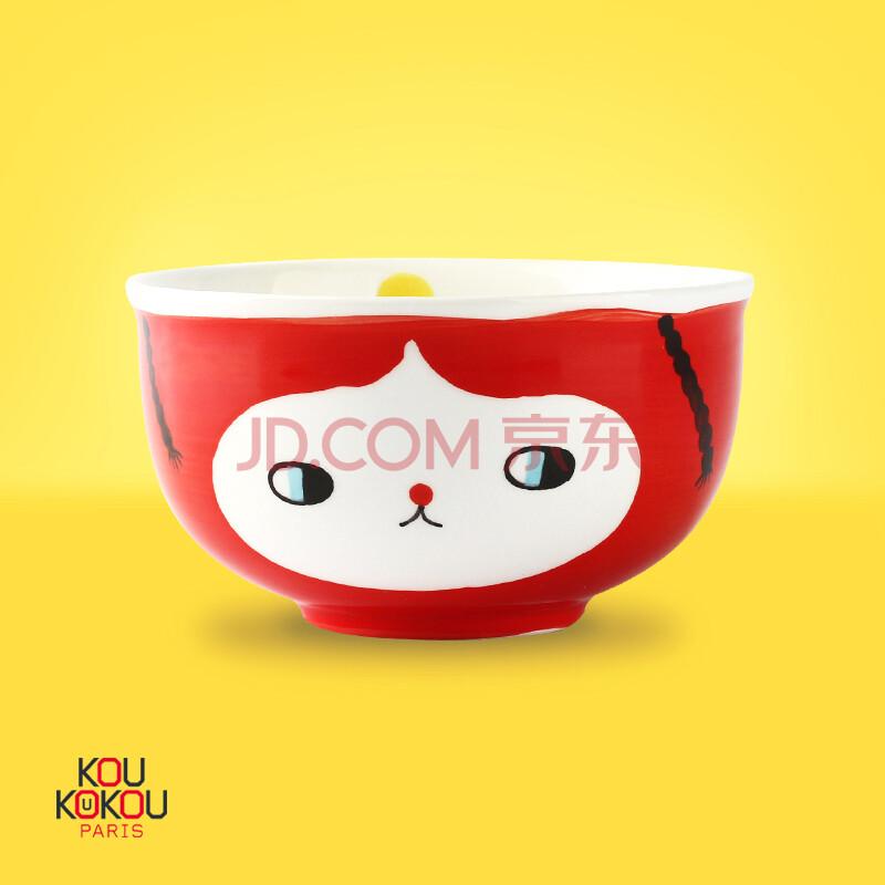 趣玩 法国设计卡通表情陶瓷餐具 面碗 汤碗 手绘创意餐具 生日礼物 创