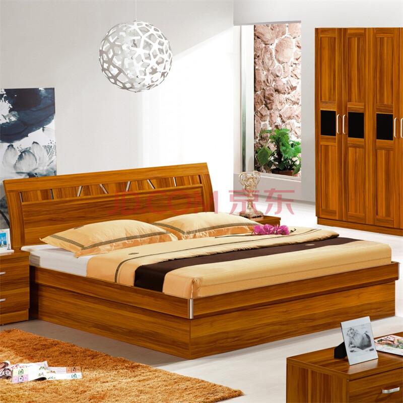 依你家具现代简约板式床木板床硬板床普通床1.5和1.图片