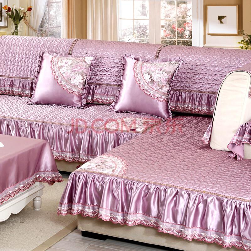 冰河 秋冬沙发垫坐垫套装四季布艺防滑加厚沙发套罩巾